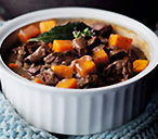 Beef and butternut pumpkin pot