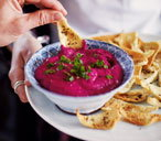 Beetroot dip with caraway toasts