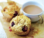 Blackberry and toasted hazelnut muffins