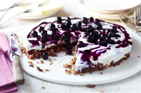 Dairy free blueberry cheesecake
