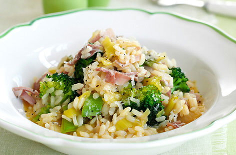 Brocolli and Ham Risotto HERO