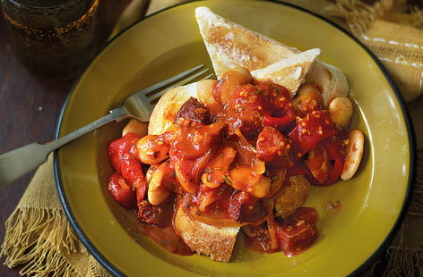 Butter bean, paprika and chorizo stew