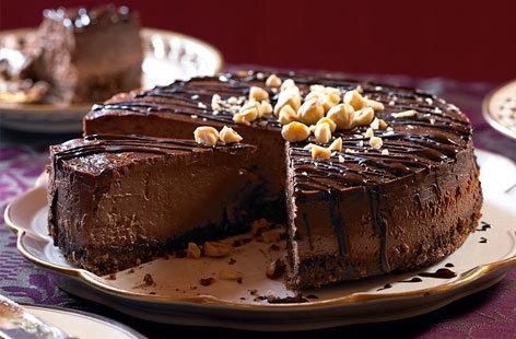 Light-as-air chocolate hazelnut cheesecake | Tesco Real Food