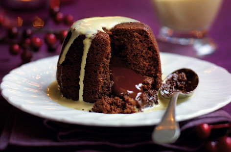 CHOCOLATE PUD WITH BAILEYS SAUCE HERO