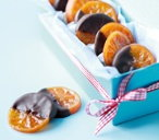 Candied clementine slices