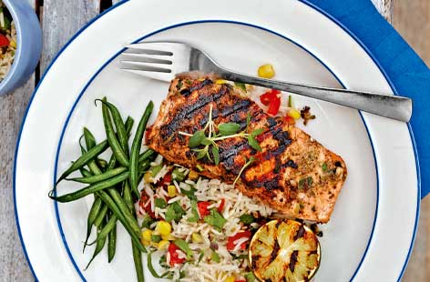 Caribbean salmon hero
