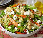 Roast carrot and feta salad