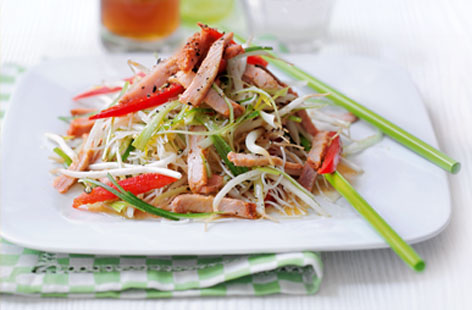 Char sui pork beansprout and noodle salad thumb