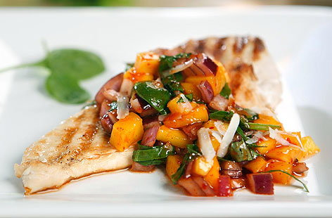 Chargrilled Chicken with Fresh Mango Salsa 001THUMB