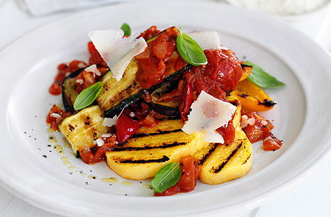 Polenta And Vegetables With Roasted Red Pepper Sauce Recipes ...