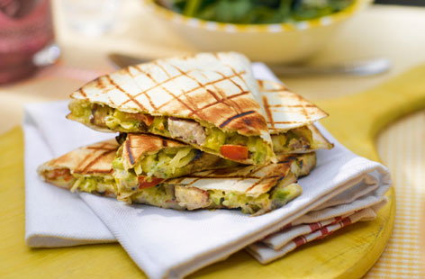 Chicken Cheese Quesadilla Recipe Chicken avocado quesadillas