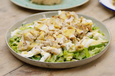 BBQ chicken Caesar salad