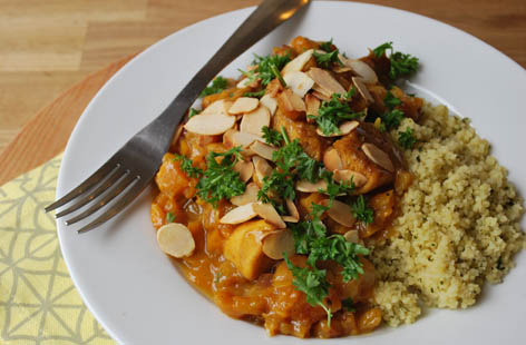 Chicken tagine with apricots and almonds | Tesco Real Food