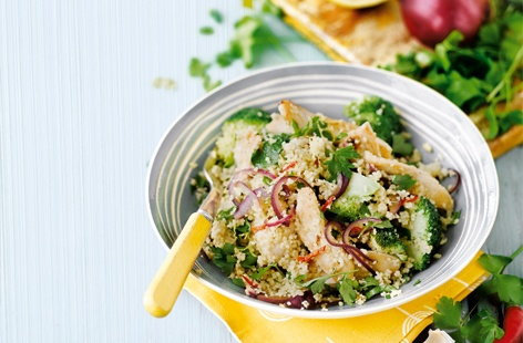 Chicken and broccoli couscous