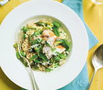 Chicken broad bean risotto