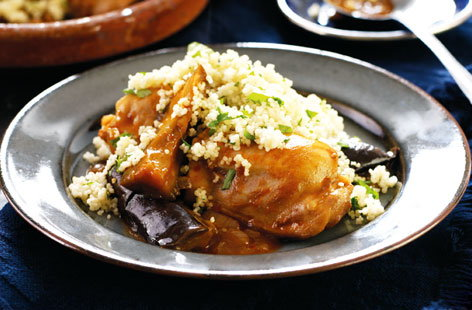 Chicken harissa and aubergine tagine hero