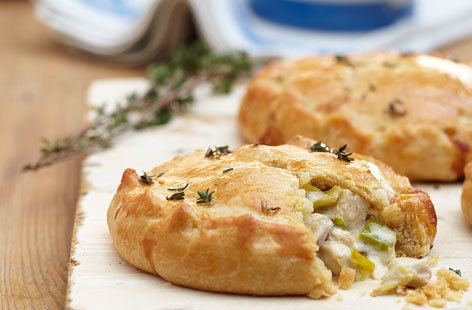 Chicken leek mushroom pie HERO