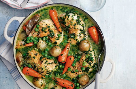 Chicken stew with salsa verde