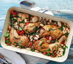 Chicken with cannellini beans