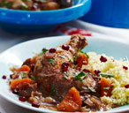 Chicken and pomegranate tagine
