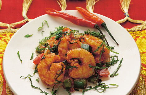 Chilli prawn salad
