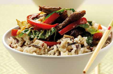 Chinese Beef Stirfry with Wild Rice (h)