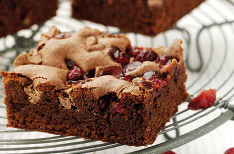 Chocolate & Cranberry Brownies (h)