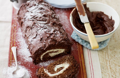 Fay Ripley's chocolate Yule log