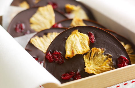 Chocolate and fruit chocs