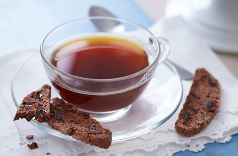 Chocolate and raisin biscotti