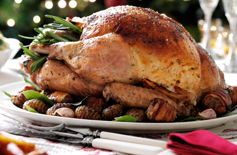 Classic roast turkey with pork stuffing