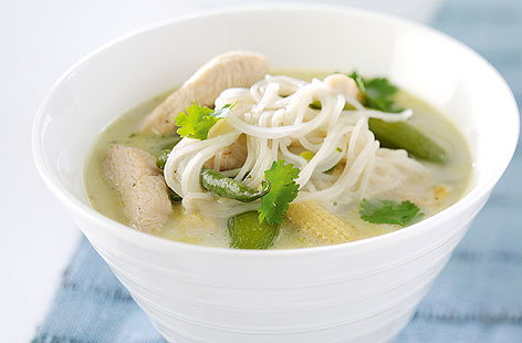 Coconut chicken noodle soup