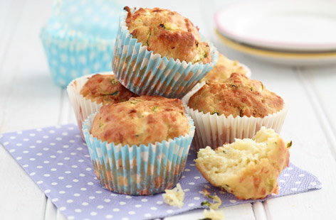 Cheesy courgette muffins