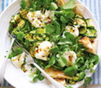 Courgette and mozzarella salad