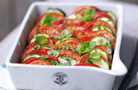 Courgette and tomato gratin HERO