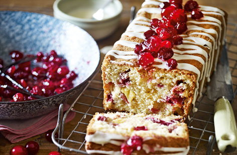 Cranberry, orange and almond fruit loaf (h)