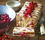 Cranberry, orange and almond fruit loaf
