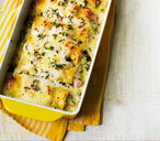 Creamy ham and leek cannelloni