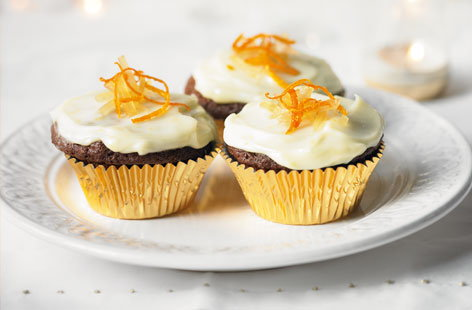 Ginger cupcakes with clementine Philadelphia icing | Tesco Real Food