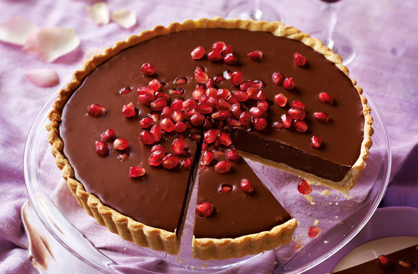 Dark Chocolate And Pomegranate Tart Tesco Real Food