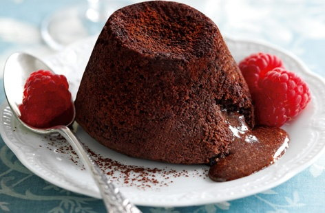 Rich chocolate fondant puddings