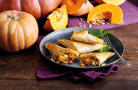 Pumpkin filo triangles