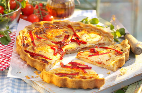 Finest Soignon Cheese & Red Pepper Quiche (h)