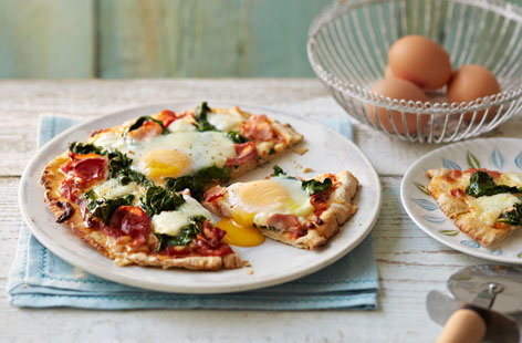 Pizza with fresh figs, ricotta, thyme and honey   Tesco Real Food