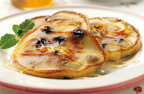 Fruity buttermilk pancakes
