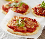 Gluten-free margherita mini pizzas