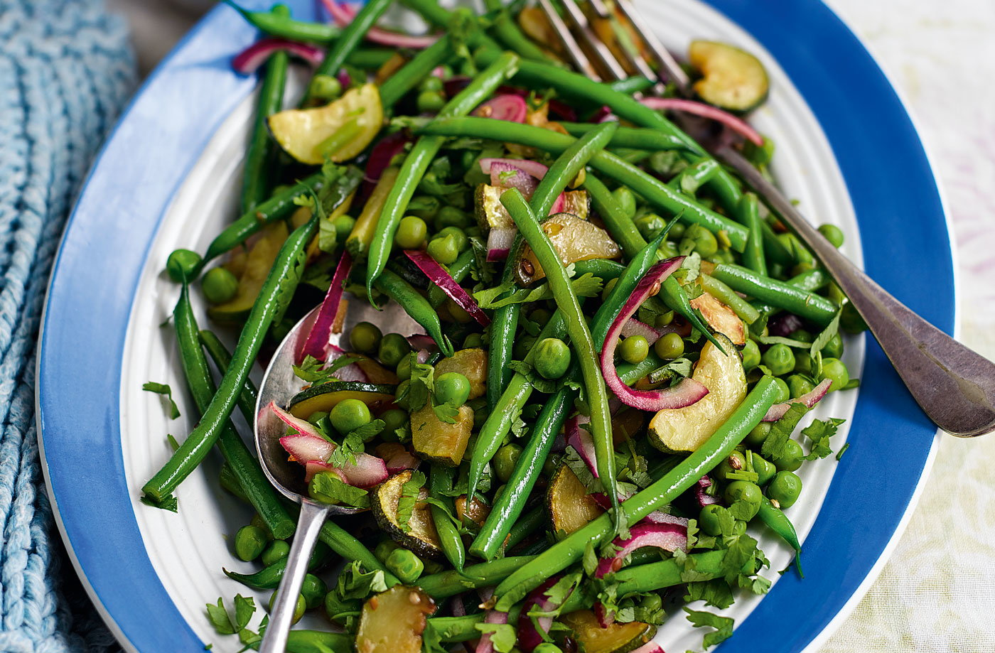 and vibrant green vegetable tumble as a healthy side. The green bean ...