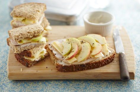 Apple, turkey and cheddar sandwich | Tesco Real Food