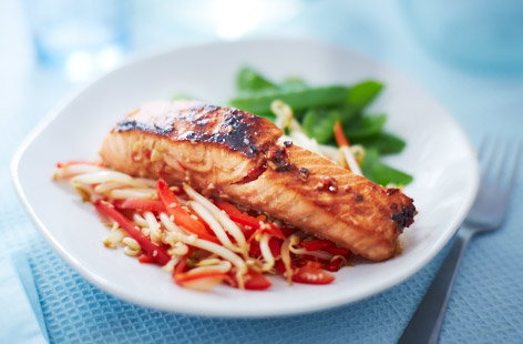 Asian salmon fillet
