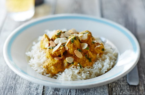 Chicken and banana korma
